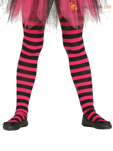 Girls Striped Tights Halloween Witch Pumpkin Devil Fancy Dress Costume Accessory