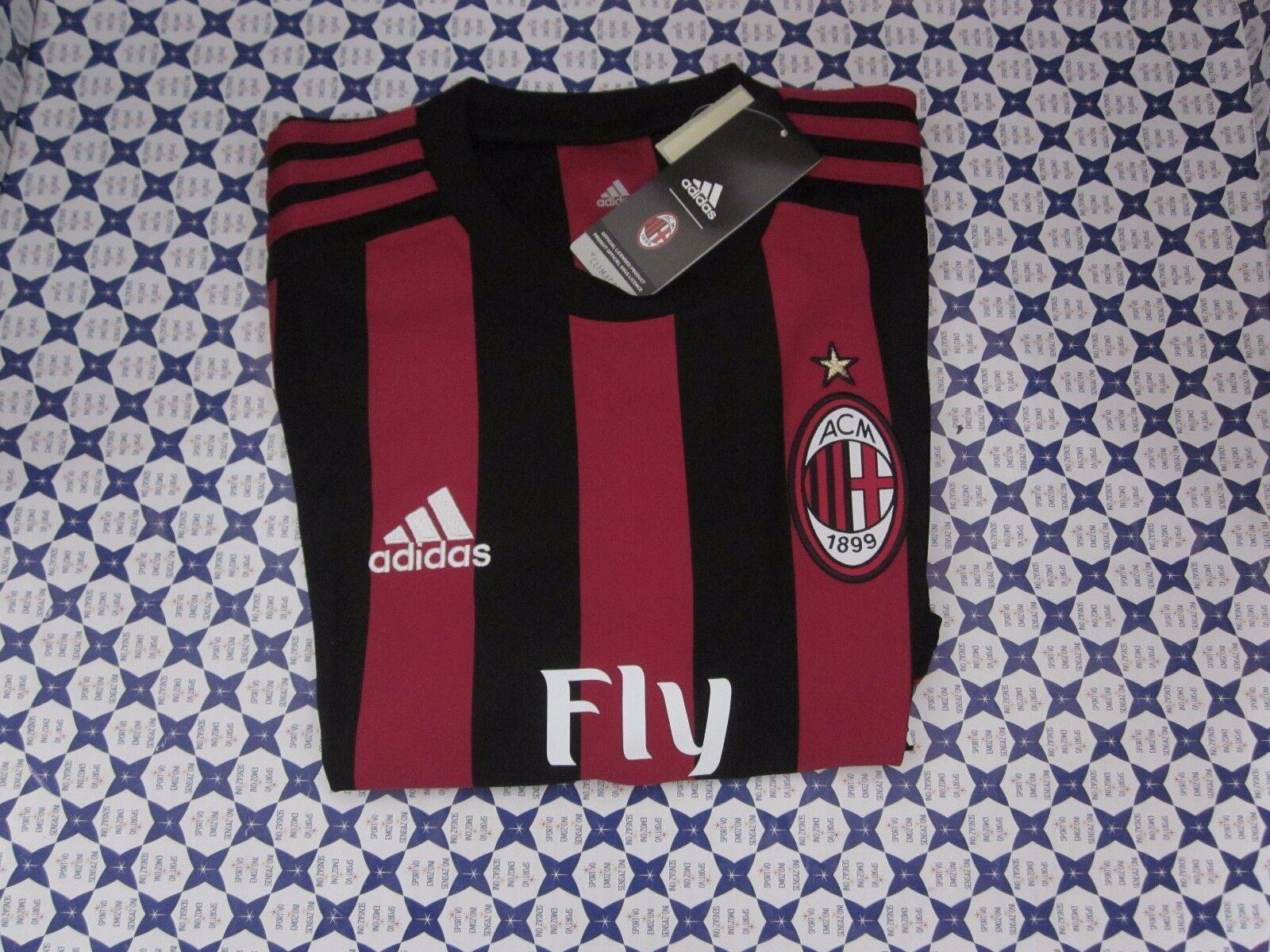 T-Shirt Adidas AC Milan Home Casa 2017 2018 -- rojo negro -- AZ7069