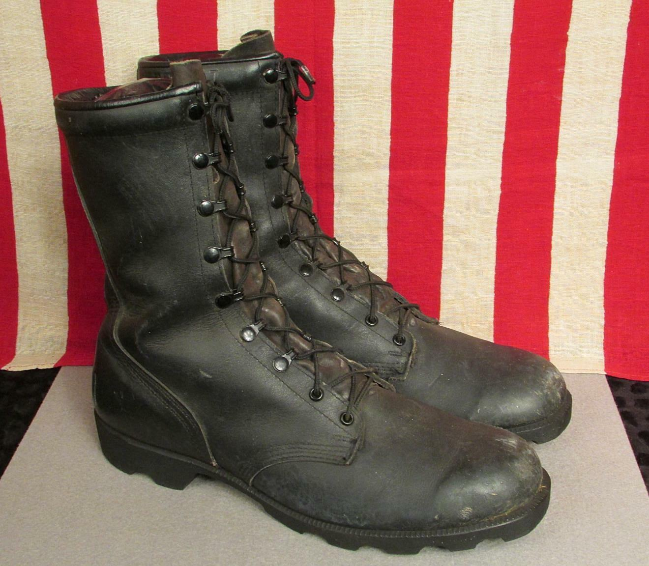 Vintage RO Search Black Leather Military Combat Boots Sz.13 Great Condition
