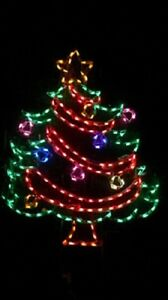 Details About Garland Christmas Tree Outdoor Holiday Led Lighted Decoration Steel Wireframe