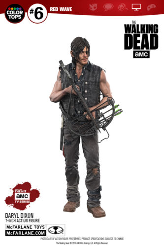 "DARYL DIXON RED WAVE Walking Dead TV McFarlane Color Tops 7/"" Action Figure"