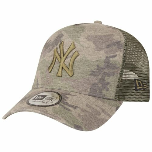 New Era A-Frame Trucker Cap New York Yankees wood camo
