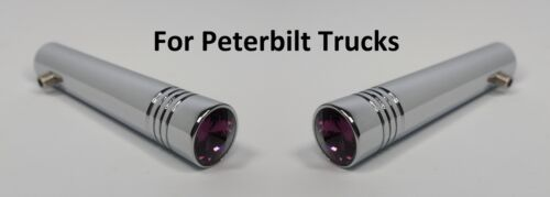 """Pair Purple Toggle Switch Extensions for Peterbilt 2-1//4/"""" Long Chrome Metal"""