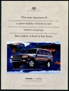 1998 Toyota Land Cruiser V8 photo vintage print ad