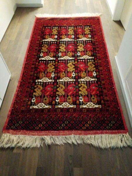 Zielsetzung Alter Teppich Afghanistan, Vintage Afghan Rug, Schönes Muster, Handgeknüpft Spezieller Sommer Sale