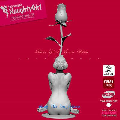 Unpainted Naughty Girl Resin Figure  Woman And inkfish Model Kits 75mm GK NEW