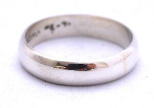 Taxco-Mexiko-925-Sterling-Silber-5-mm-einfache-Band-Ring-3-5-G-verschiedene-Groessen
