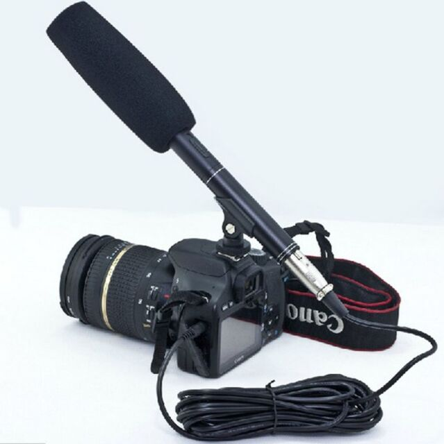 "New pro 14.37"" Camera Camcorder Shotgun Microphone Condenser for Nikon Interview"