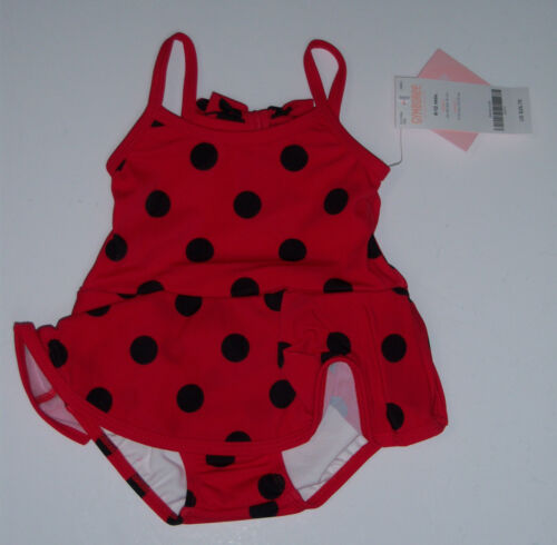 NWT Gymboree Flitter Flutter Lady Bug Polka Dot Skirted Swimsuit w// Diaper Cover