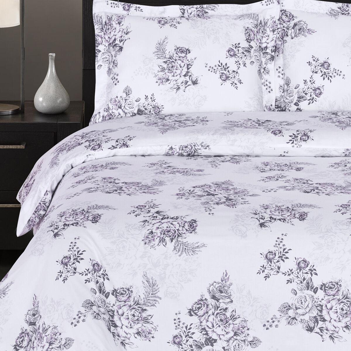 Bally Soft Reversible Duvet Cover Set,3PC fashionable floral Printed Duvet Cover