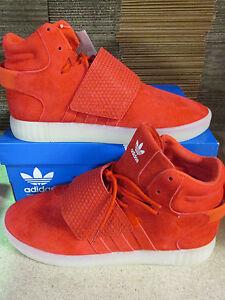 half off 647f6 c7b0a Image is loading Adidas-Originals-Tubular-Invader-Strap-Hi-Top-Trainers-