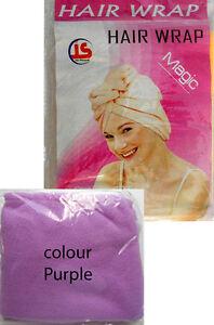 New RANDOM COLOUR,QUICK DRY HAIR WRAP TURBAN SUPER SOFT TOWEL LUXURY CAP HAT
