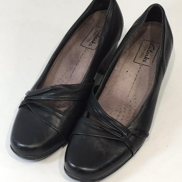 94a48e12129c EUC Clarks Women Shoes PUMPS Artisan Sugar Plum Navy Blue Sz 7m for ...