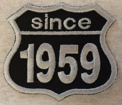 Patch ricamate anni numero since 1959 Biker Hot Rod Custom