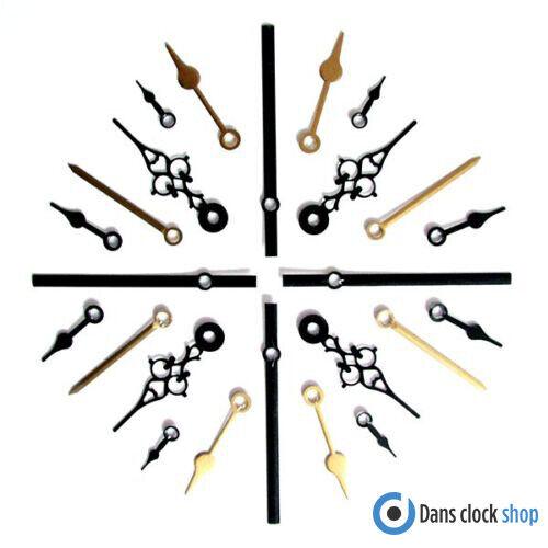 25 Stk. Metall Uhr Hände Für Quartz Uhr Uhrwerke Größen 24 - 130mm Presspassung Geeignet FüR MäNner, Frauen Und Kinder