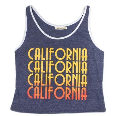 Juniors Crop Top Heart of a Gypsy Sunset Grey Heather Tee T Shirt