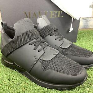 UK9-MALLET-Elast-Camo-Tech-Triple-Black-Trainers-Designer-Shoes-WORN-ONCE-EU43
