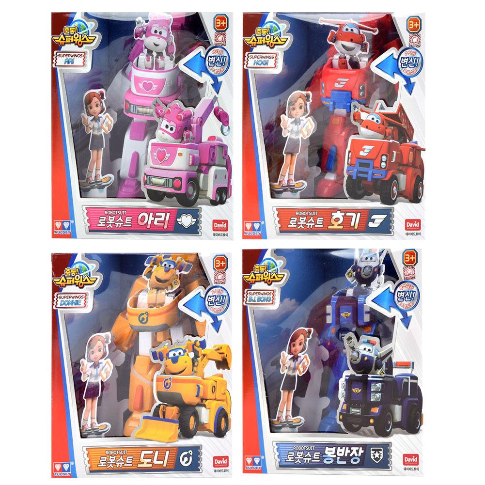 Super vinges Privat Bil Förvandlar Robotadräkt   Robot Suit mini leksak   4 Typer