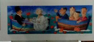 Pino-Procopio-Matrimonio-in-barca-serigrafia-cm-30-x-70-firme-numero-a-lapis