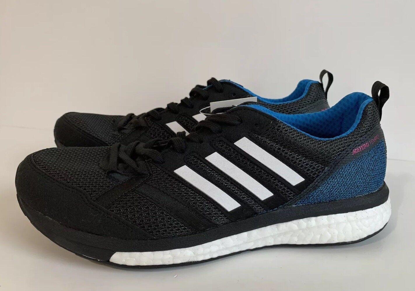 Adidas Adizero Tempo 9 Women's Running shoes Black bluee Pink AH2587 Sz 9.5