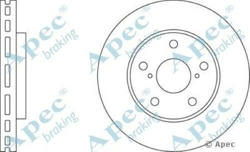 1x OE Quality Replacement Front Axle Apec Vented Brake Disc 5 Stud 275mm Single