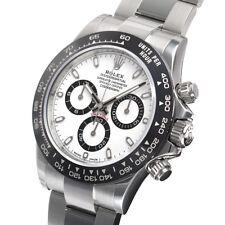 Rolex Daytona 116500 Stainless Steel Ceramic Bezel White Panda Dial 40mm Watch