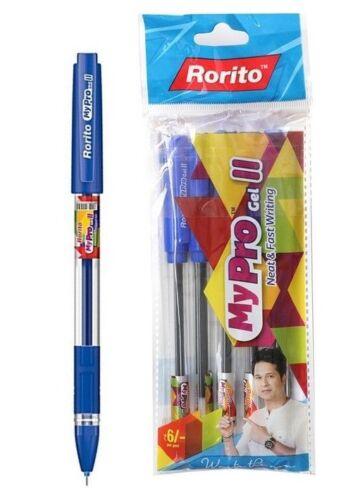 100x Rorito Mypro Gel II Pen BLUE 0.6mm Waterproof ink School home office USE