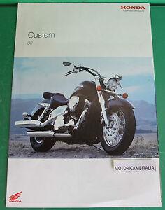 HONDA-MOTO-CUSTOM-VTX-BLACK-WIDOW-SHADOW-VT600-ADVERTISING-PUBBLICITA-DEPLIANT