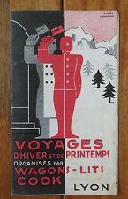 WAGONS LITS COOK LYON livret couverture illustrée d'après CASSANDRE 1934-35