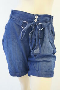Denim-Jeans-Low-Rise-Belted-Ladies-NEW-LOOK-Shorts-Size-8-10-12-14-16-18-FREE-PP