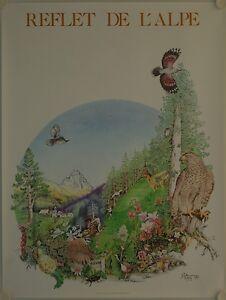 Affiche Reflet De L'alpe 1985 Remi Potey Sensation Confortable