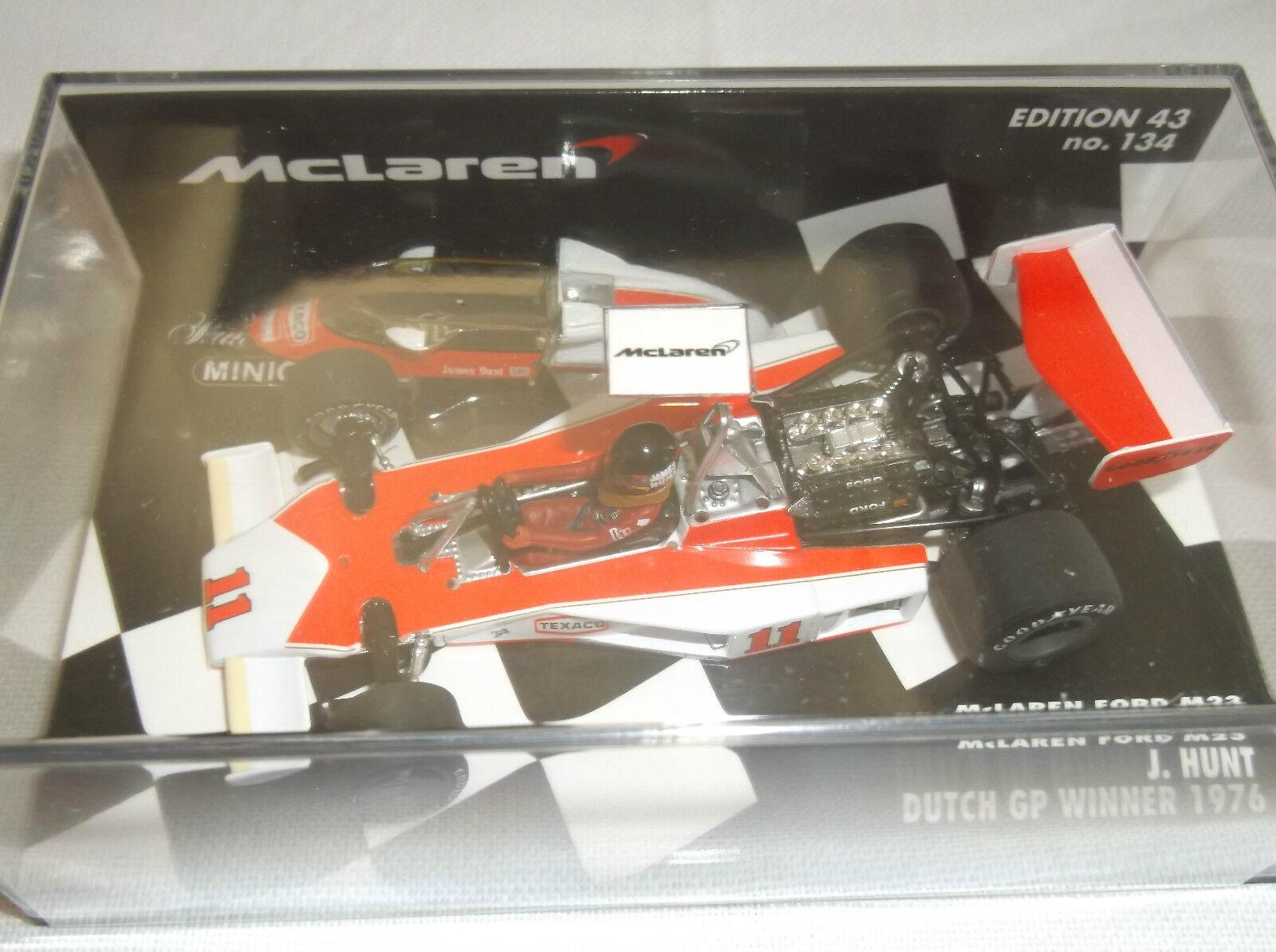 NEW MINICHAMPS 1 43  J. Hunt  McLaren Ford M23  Dutch GP Winner 1976 F1