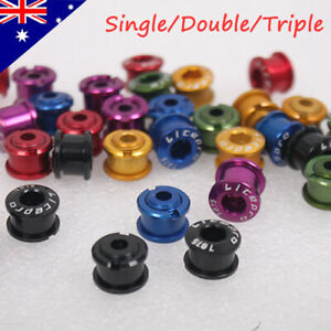 5PCS Bike Chainring Bolts Single//Double//Triple Speed Chain ring Screws`