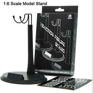 "Adjustable Height 1//6 ZY Toys Black Waist U Ring Type Display Stand F 12/"" Figure"