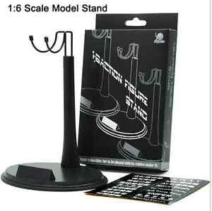 "Adjustable Height 1//6 ZY Toys Black Waist U Ring Type Display Stand F 12/"" Figure"