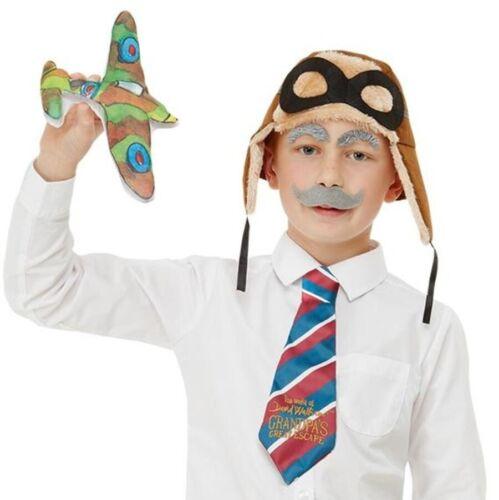 Childs David Walliams Grandpa/'s Great Escape Fancy Dress Kit Book Day by Smiffys