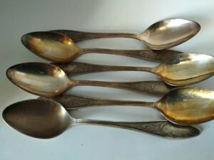Vintage 70s Lovely Set of 6 Pcs Alpacca Silver Plated Dinner Forks From USSR  Original Gift Box