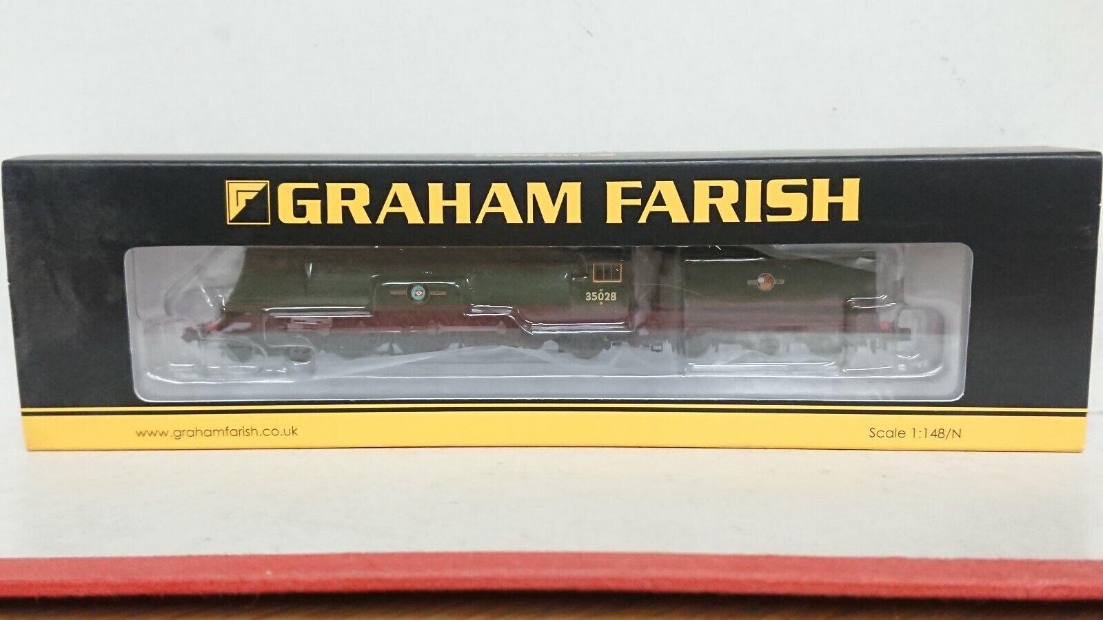 Graham Farish N Gauge 372-312 Merchant Navy Class  CLAN LINE  BR Green 6DCC NEW