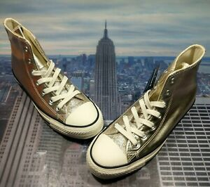 Details about Converse Womens Chuck Taylor All Star High Top Shiny Metal Gold Size 7 564851c
