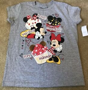 ebb105bdc NWT Disney Store Women's Graphic T-Shirt Mickey Minnie Mouse Cupcake ...
