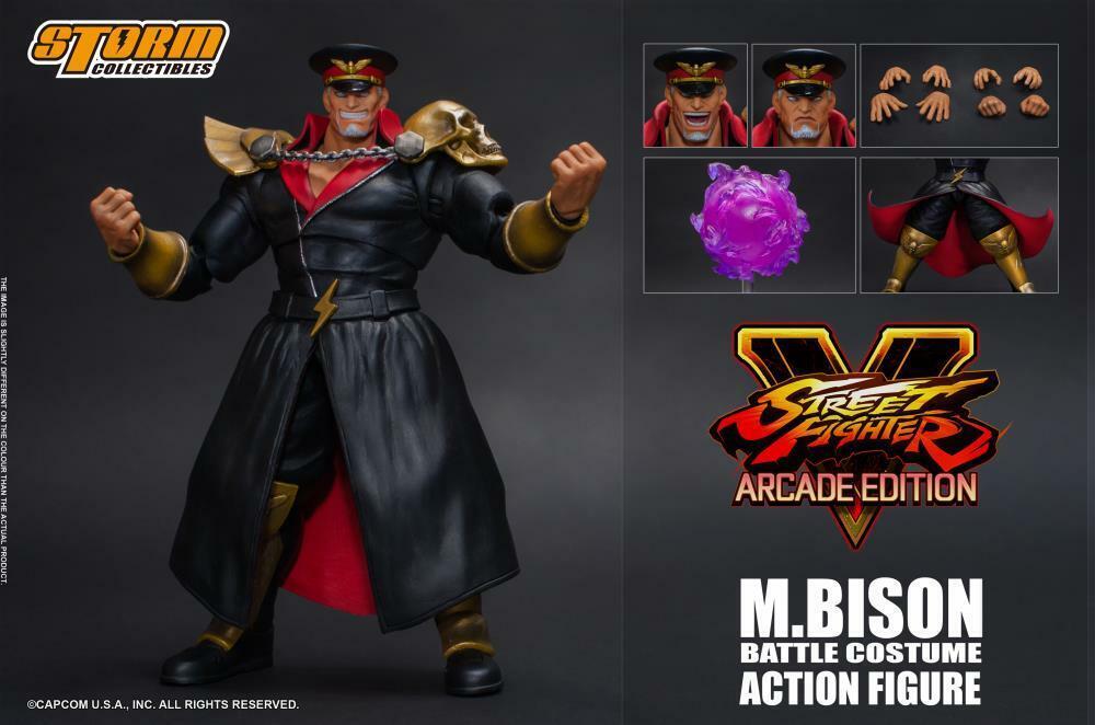 encuentra tu favorito aquí Storm Coleccionables M. Bison Bison Bison Batalla Disfraz 1 12 acción figura Street Fighter V  Todos los productos obtienen hasta un 34% de descuento.