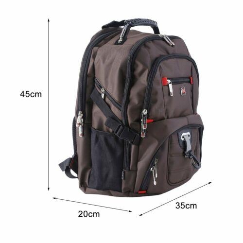 "Men/'s Travel Sport Rucksack 15/"" Laptop Backpack Shoulder Swiss Hiking School Bag"