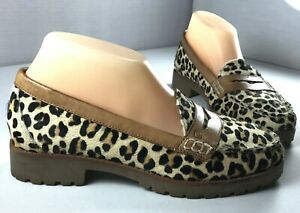leopard sperry loafers