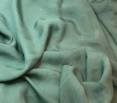 Hand Dyed SAGE LEAF Silk VELVET Fabric