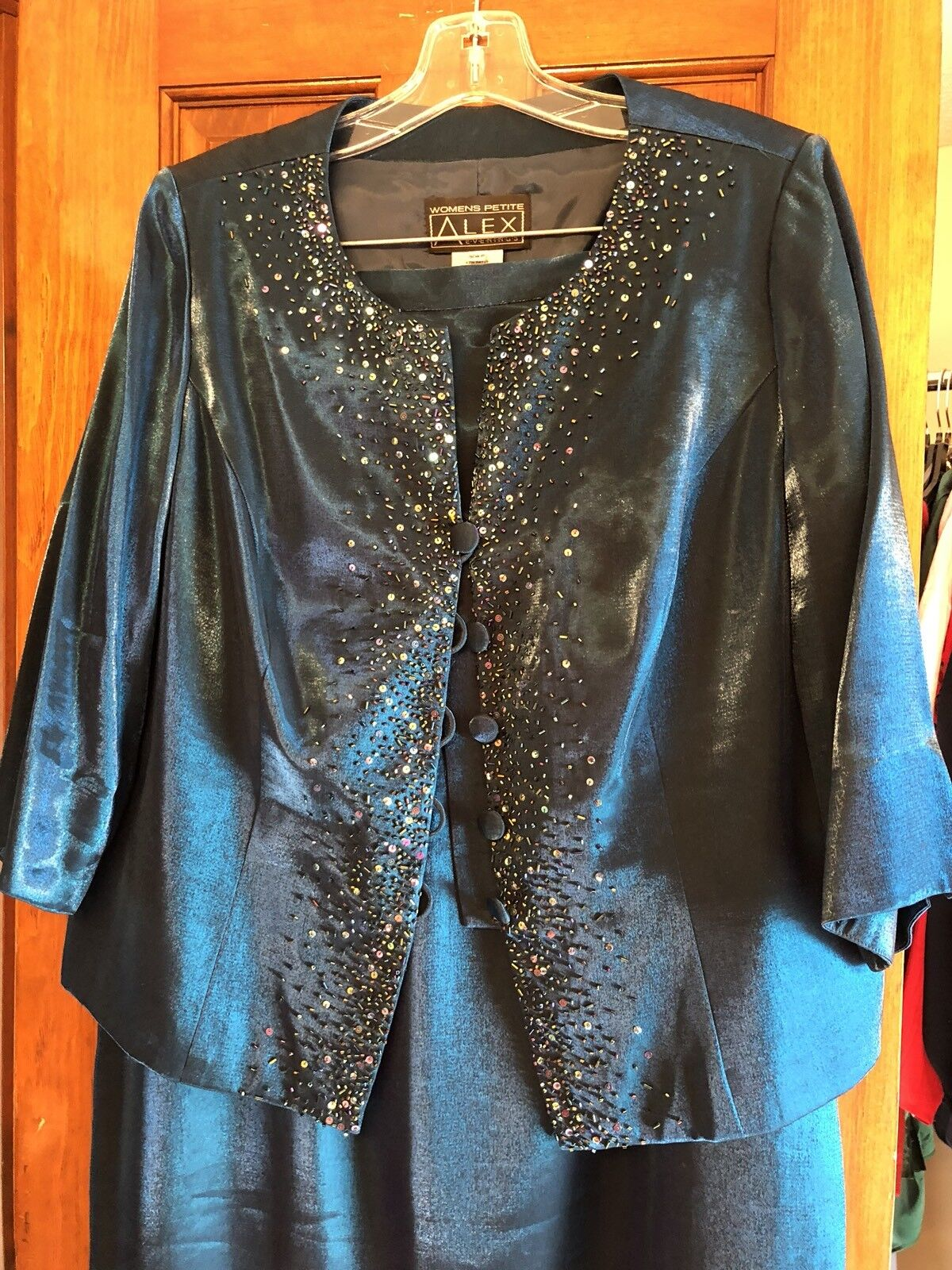 Alex Evenings damen Petite 16 Dress Turquoise 2 Piece