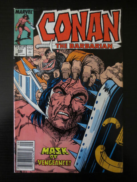 Conan the Barbarian #222 G/VG 1989 Don Perlin Art Newsstand (C0422)
