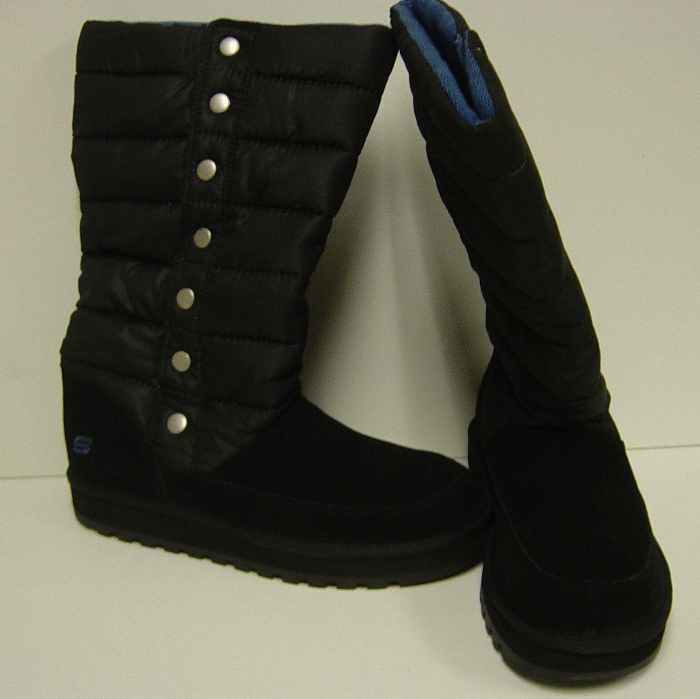 Nuevo Para Mujer Skechers Recuerdos Mercury 47340 blk Negro botas Zapatos