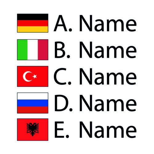 Name ✔ 10cm ✔ Sticker ✔ 5x ✔ Fahrrad Namens Aufkleber ✔ Deutschland Flagge