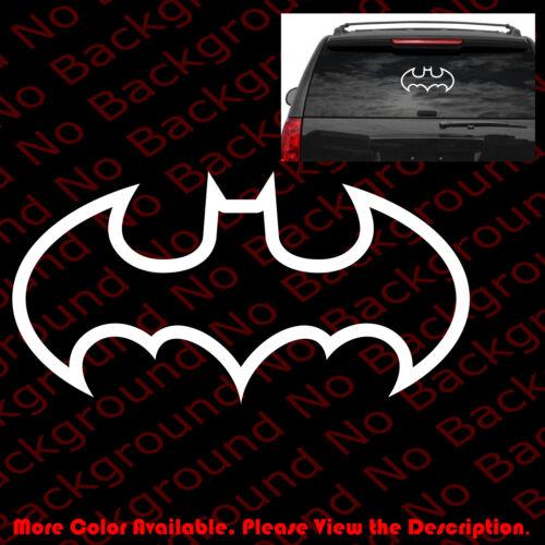 LARGE BATMAN Outline ONLY Car Window Vinyl Decal Sticker//Dodge//Jeep//Mopar CM019