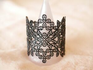 Ladies-Designer-Lace-Cuff-Bracelet-Black-Limited-Stock-in-a-Beautiful-Gift-Box